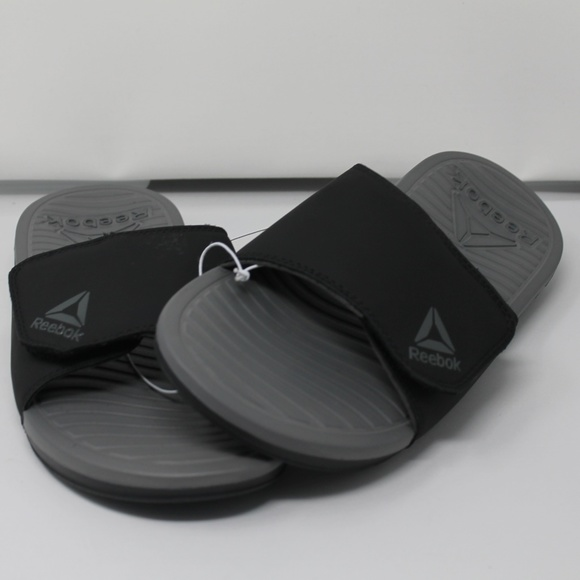 a33568bd Reebok Men's Advance Slide Sandal Black/gray 10